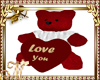 red Bear toy w heart