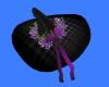 Black floreal Hat