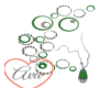 Circles Decor Green