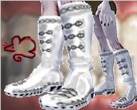Chain Boots White