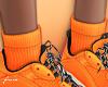 f. add on orange socks