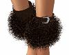 (K)  Fur Ankle Cuffs BR