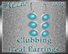 !a Clubbing Teal Earring