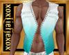 [L] AQUA White Vest M