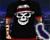 Cholo Skull Blk/Red