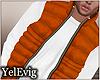 {Y] Orange puff vest M