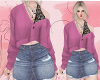 D : Pink Lace Shirt