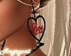 Heart Earrings Black