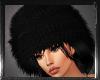 -pr- black fur hat
