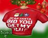 .B. Text Santa Top