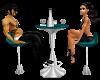 Teal Club Table