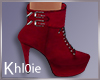K luna red boots