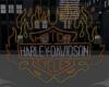 Neon Harley Flame blinks