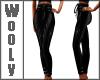skinny belted pants blk