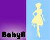 BA Blu Yellow Silhouette