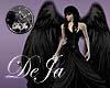 rD angel wings black