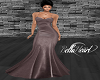 Taupe Mermaid Gown