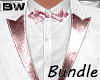 White Pink Art Suit BD