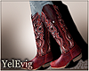 [Y] Amelia red boots