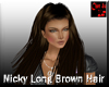Nicky Long Brown Hair