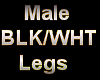 Male BLK/WHT Horse Legs
