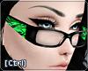 |C| Glasses Zebra Green