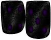 {pim} purple fuzzy dice