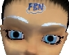 White Blue Eyebrows