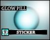 AS- skyblue Glow Sticker