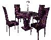 Purple n Gold Dining Set