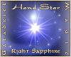 Hand Star  R Sapphire