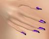 821 Purple & Black Nails