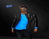 Jacket full Leather Blue