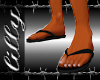 Black rubber beach shoe