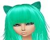 Sea Foam Green Cat Ears