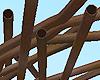 Rusty Bent Tube Pile