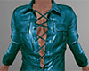 Teal Leather Shirt 4 (M)