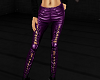 PURPLE LEATHER SLIT JEAN