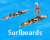 Surfboards Silver & Gold