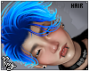 Sea Blue Adrien Hair