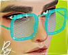 Cyan Jelly Glasses