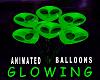 Balloons Alien Green Glo
