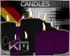 +KM+ Candles Blk/Prpl