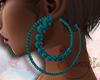~A~ Dina Earrings Blue