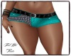 BV Teal Hot Pants