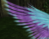 Aqua/Purple Wings ~