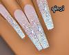 q! diamond sparkle nails