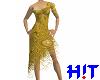 Ripped Dress - golden