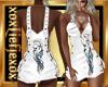 [L] White WOLF Dress F