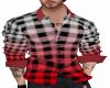 red ombre plaid shirt